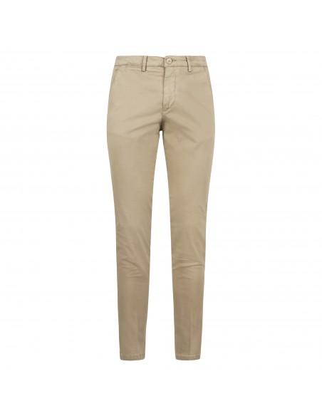 Luca Bertelli - Pantalone beige tasca a filo per uomo | p1700 skin