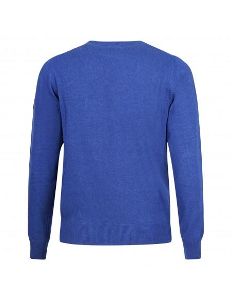 Roy Roger's - Maglione azzurro lana e cashmere per uomo | rru543c733