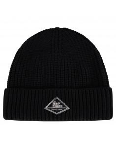 Cappello nero con logo in jeans