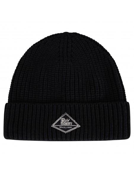 Roy Roger's - Cappello nero con logo in jeans per uomo   rrx912c982