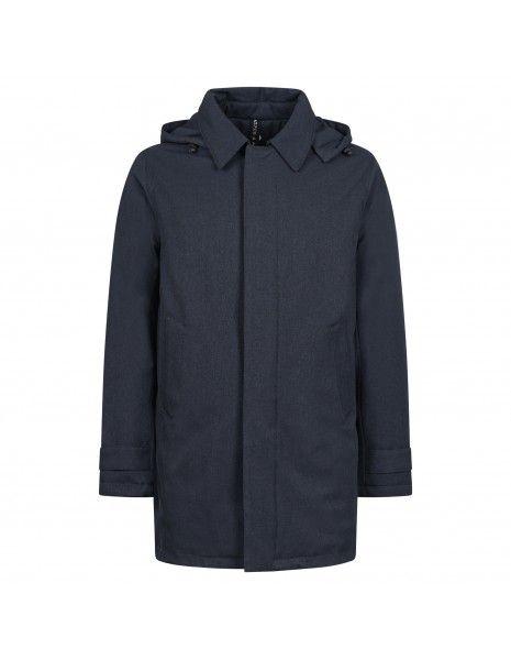 AT.P.CO - Giubbotto blu con cappuccio removibile per uomo | a233paride231 p016