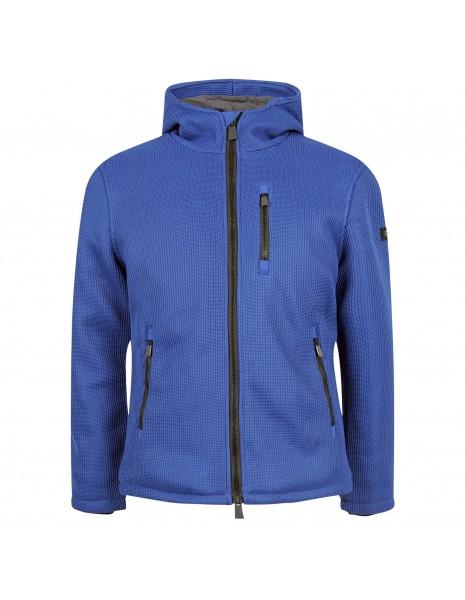 Unity - Giubbotto azzurro in tricotech con cappuccio per uomo   gb-burber-22