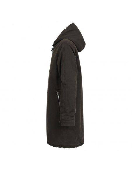 Officina36 - Giubbotto parka nero check con cappuccio per uomo | 0483508503/nero